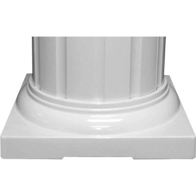 Crown Column 6 In. White Aluminum Standard Cap/Base