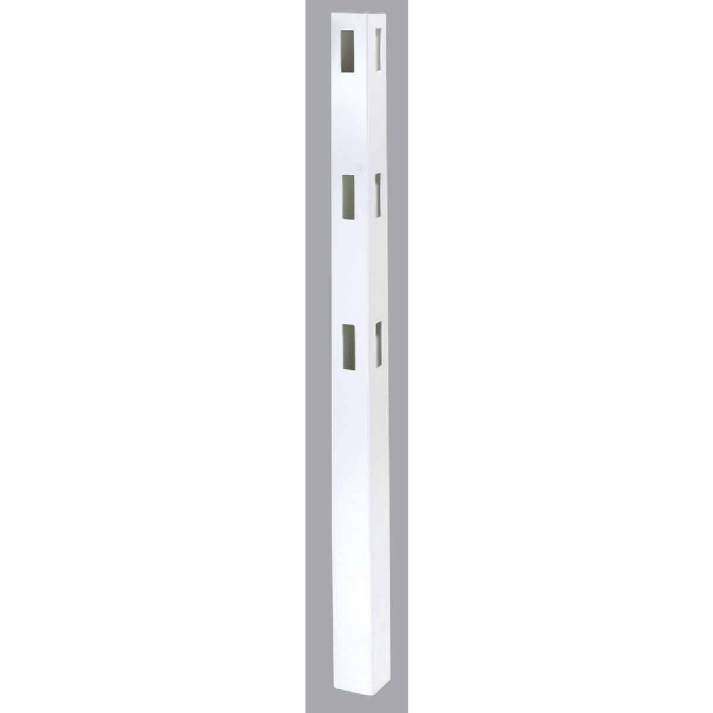 Outdoor Essentials 5 In. x 5 In. x 84 In. White Corner 3-Rail Fence Vinyl Post Image 1