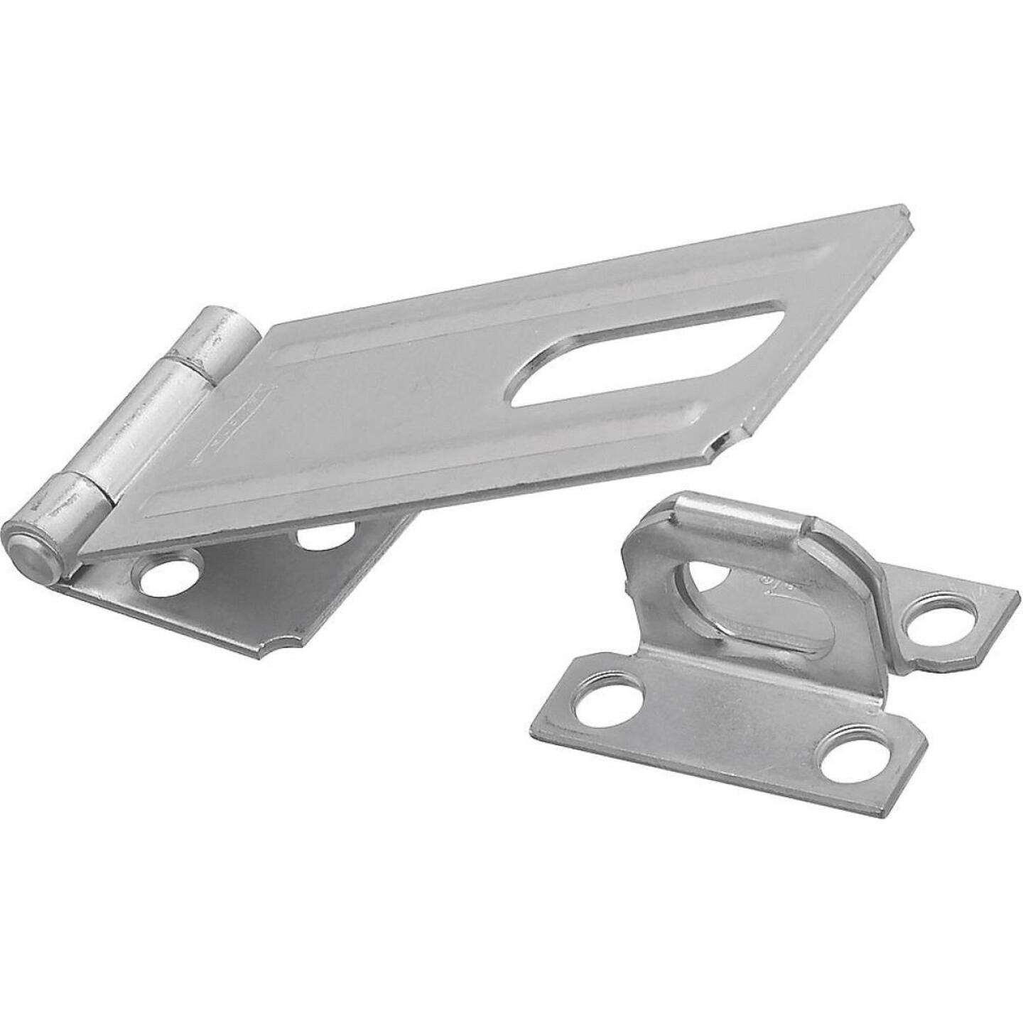 National 4-1/2 In. Zinc Non-Swivel Safety Hasp Image 1