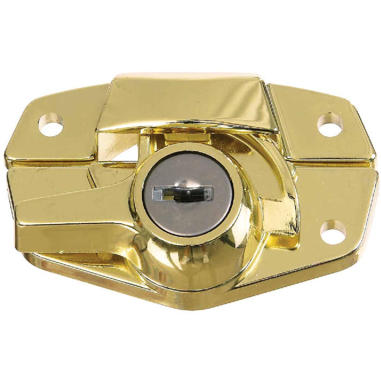 National Brass Finished Die-Cast Sash Lock Image 1