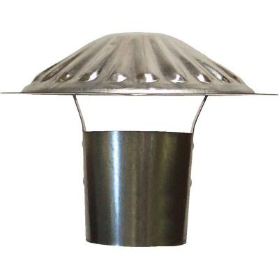 S & K Galvanized Steel 3 In. x 6-3/4 In. Vent Pipe Cap
