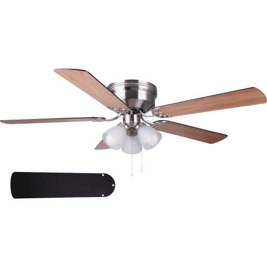 Home Impressions Adobe 52 In. Brushed Nickel Ceiling Fan with Light Kit