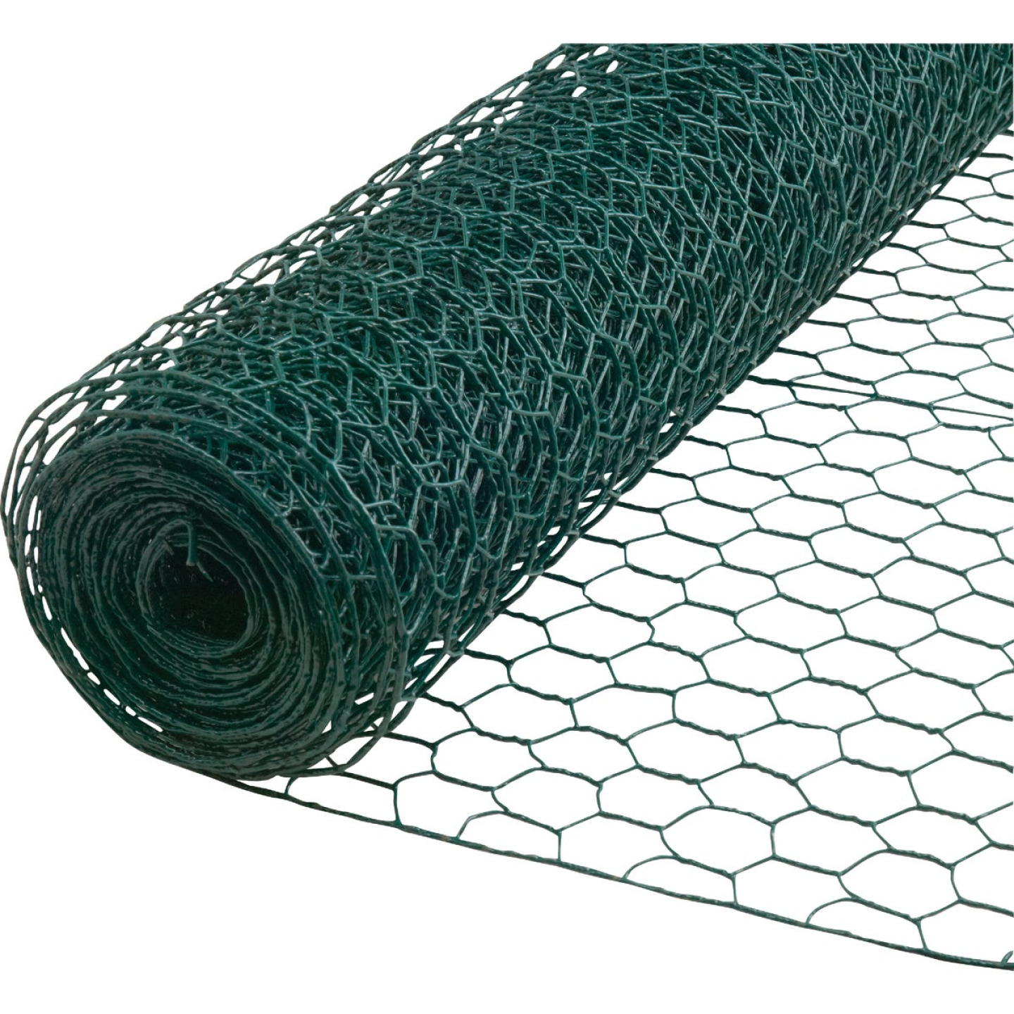 1 In. x 36 In. H. x 25 Ft. L. Green Vinyl-Coated Poultry Netting Image 1