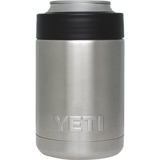 Yeti Rambler Colster 12 Oz. Silver Stainless Steel Insulated Drink Holder