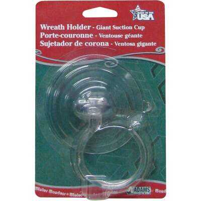 Adams Giant 10 Lb. Holding Capacity Wreath Holder Suction Cup with Hook